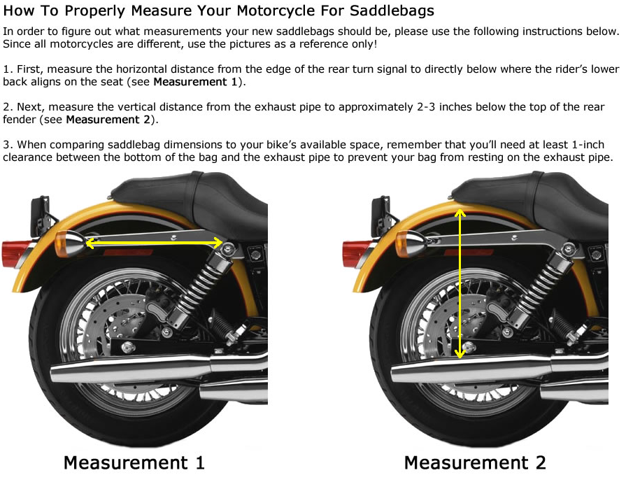 How To Measure For Motorcycle SaddleBags