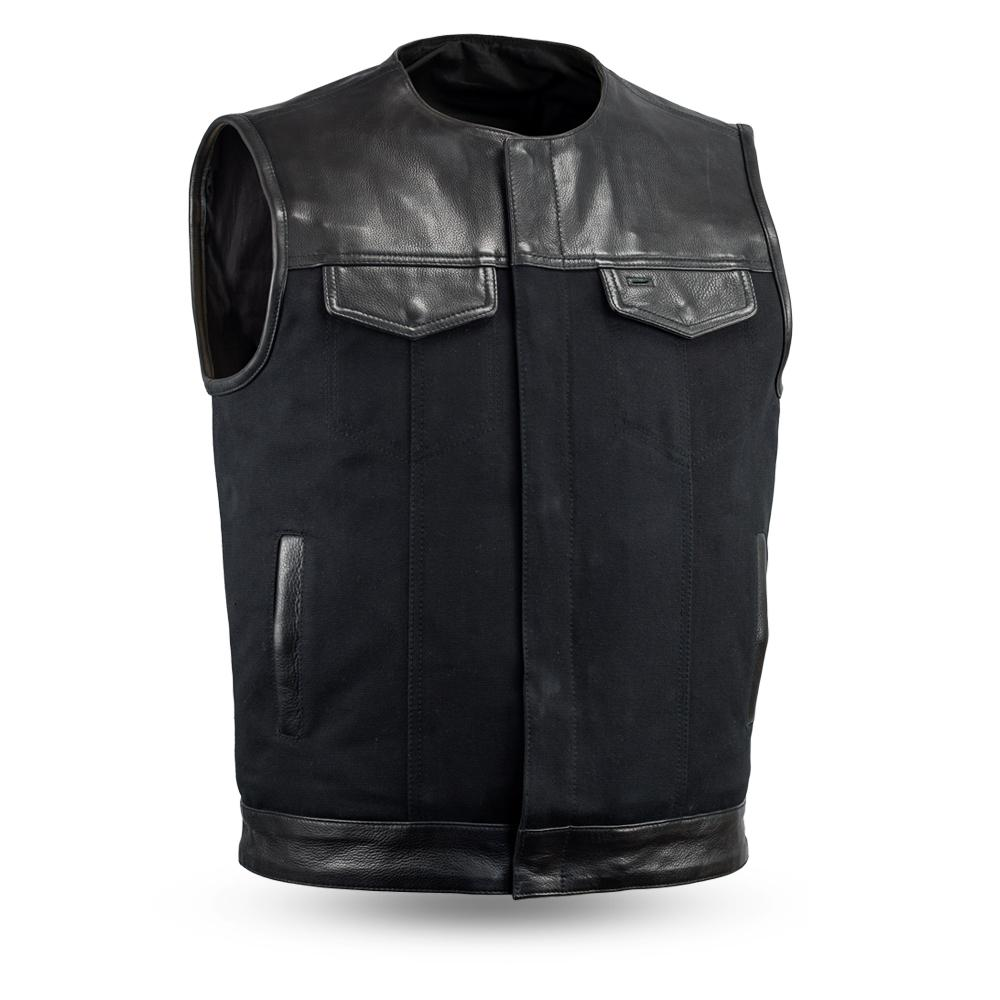 49/51 Canvas (no collar) | Men's Motorcycle Vest