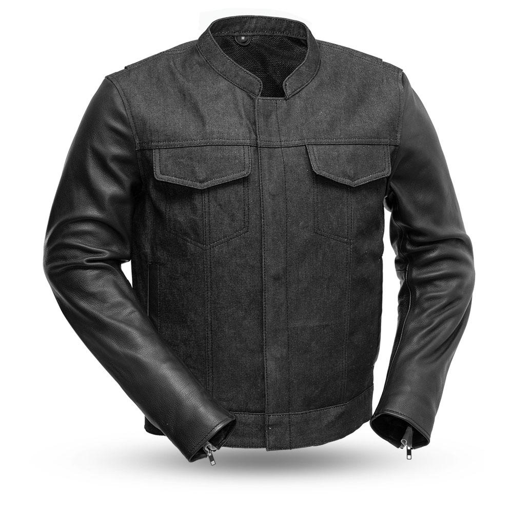 Cutlass - Denim and Leather Motorcycle Jacket - SKU FIM266DML-FM