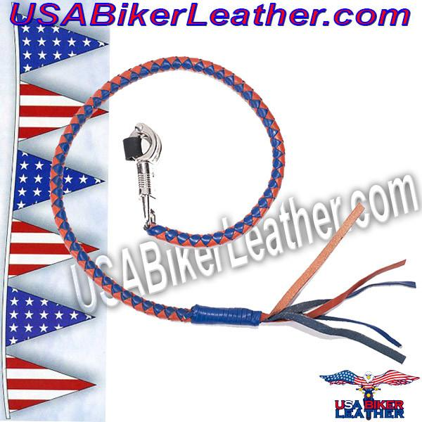 Get Back With in Orange and Blue Leather - SKU USA-GBW14-DL