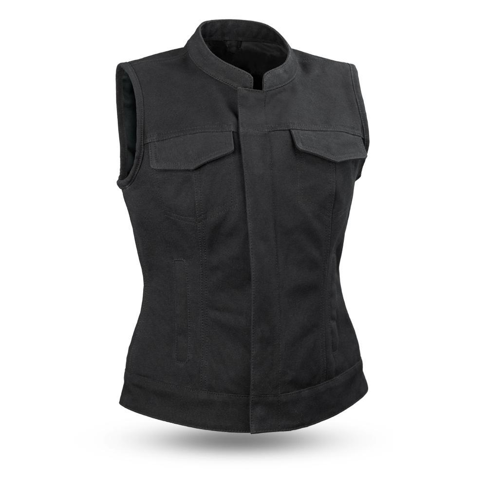 Ludlow - Canvas - Women's Club Style Canvas Riding Vest - SKU FIL516CNVS-FM
