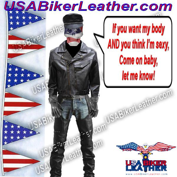 Mens Braided Pistol Pete Leather Jacket / SKU USA-MJ708-DL