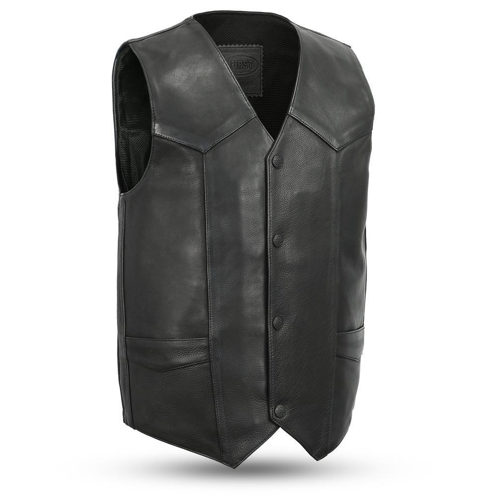 Tombstone - Men's Leather Western Vest - FIM658CPM-FM