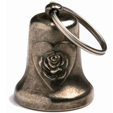 Heart and Rose - Motorcycle Guardian Ride Bell - SKU GRL-BL31-DL