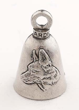 German Shepherd Dog - Pewter - Motorcycle Guardian Bell® - Made In USA - SKU GB-GERMAN-SHEP-DS