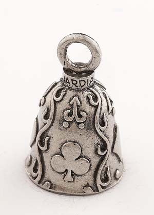 Poker - Pewter - Motorcycle Guardian Bell® - Made In USA - SKU GB-POKER-DS