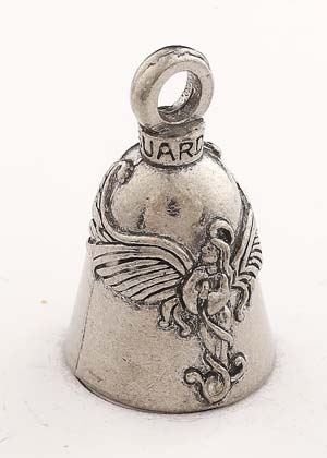 Praying Angel - Pewter - Motorcycle Guardian Bell® - Made In USA - SKU GB-PRAYING-ANG-DS