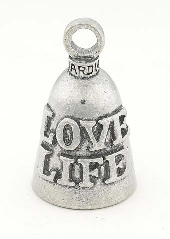 Love Life - Pewter - Motorcycle Guardian Bell® - Made In USA - SKU GB-LOVE-LIFE-DS