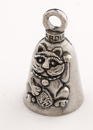 Maneki-Nek - Pewter - Motorcycle Guardian Bell® - Made In USA - SKU GB-MANEKI-NEK-DS