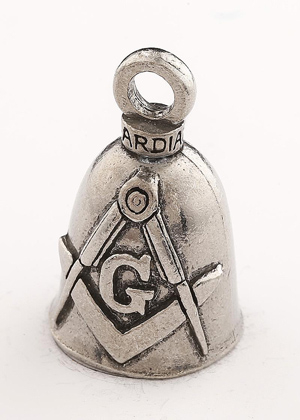 Masonic - Pewter - Motorcycle Guardian Bell® - Made In USA - SKU GB-MASONIC-DS