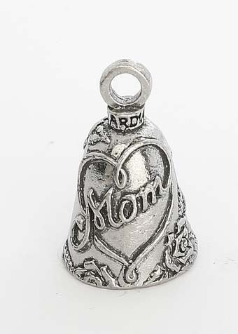 Mom - Mother - Pewter - Motorcycle Guardian Bell® - Made In USA - SKU GB-MOM-DS