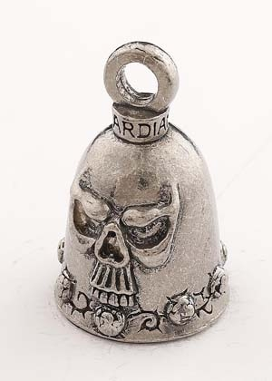 Skull - Pewter - Motorcycle Guardian Bell® - Made In USA - SKU GB-SKULL-DS