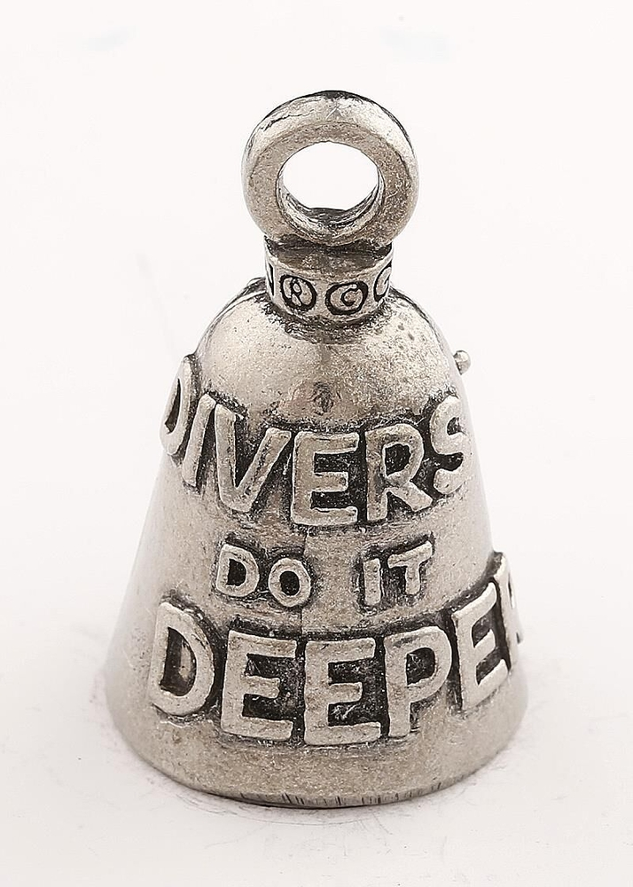 Scuba Diver - Pewter - Motorcycle Guardian Bell® - Made In USA - SKU GB-SCUBA-DIVER-DS