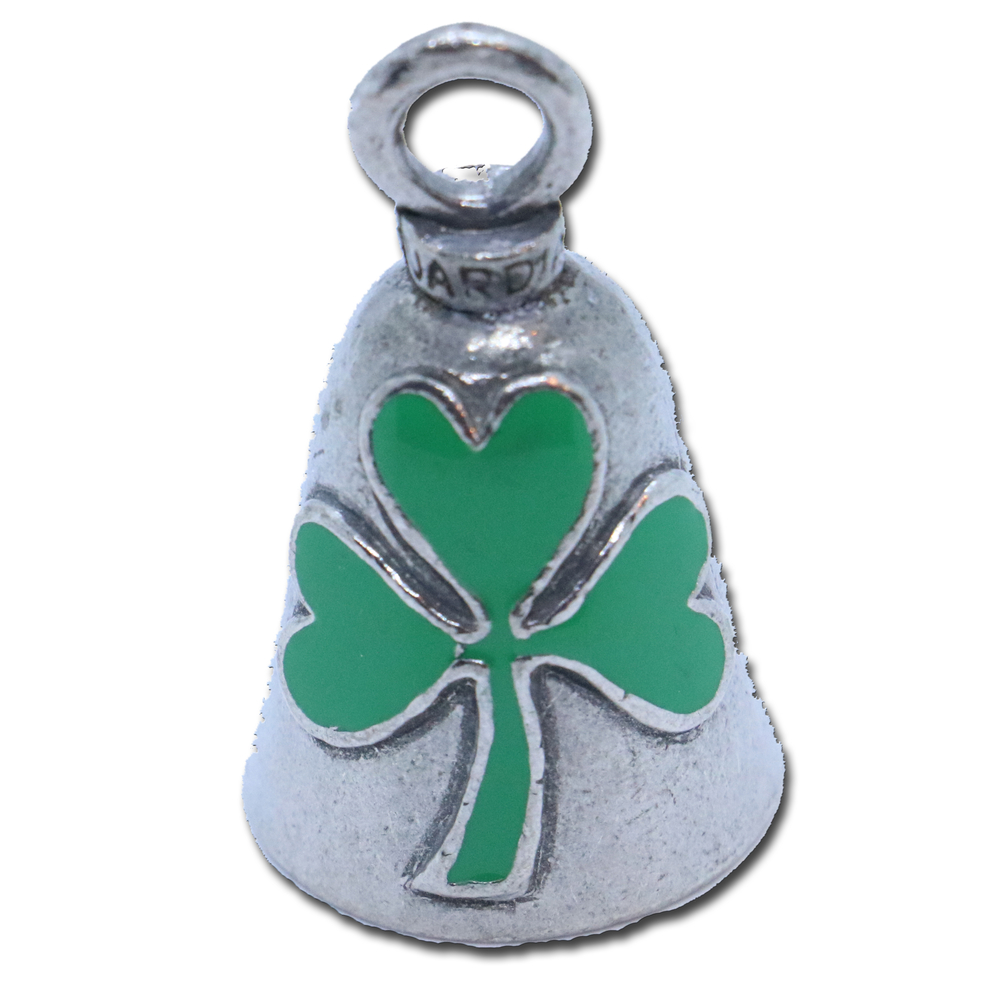 Shamrock - Pewter - Motorcycle Guardian Bell® - Made In USA - SKU GB-SHAMROCK-DS