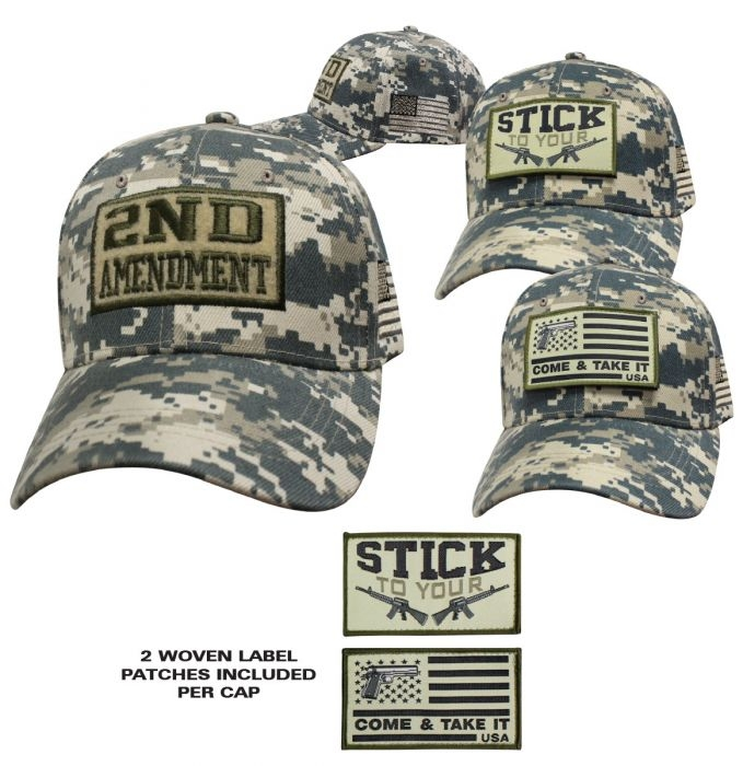2nd Amendment - Stick To Your Guns - Baseball Cap - Digital Camo - SKU SPBCDC-DS