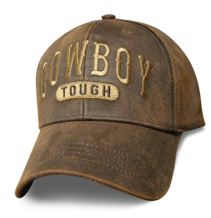 Cowboy Tough - Oilskin Brown Hat - Baseball Cap - SKU SCOTOU-DS