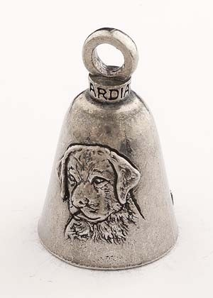 Labrador Dog - Pewter - Motorcycle Guardian Bell® - Made In USA - SKU GB-LABRADOR-DOG-DS