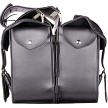 Black PVC Throwover Motorcycle Saddlebags With Braid - Motorcycle Luggage - SKU SD4019-PV-DL